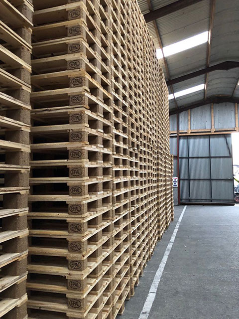 Pallets In the Shed at CJS