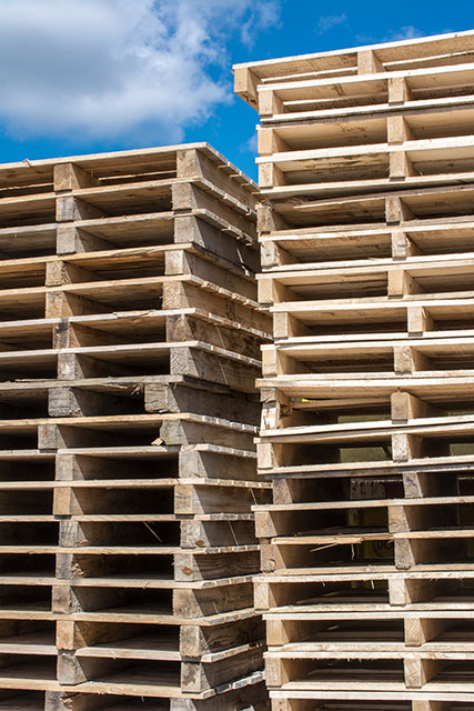 Stack of Used Pallets