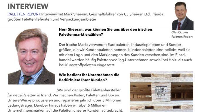 Mark Sheeran's Interview With Palleten Report Sep19