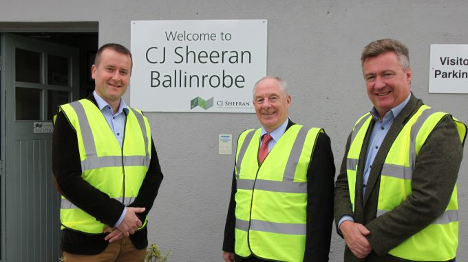 Minister Impressed On His Visit To CJ Sheeran Ballinrobe